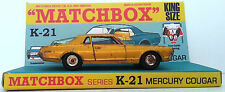 MATCHBOX Lesney Diecast KING SIZE K-21 MERCURY COUGAR & Custom Repro Display [4]