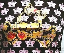 ROYAL GOTHIC CROWN GOLD SKULL Emo Punk Baby T-Shirt S/M