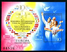 Romania Mi Bl 215, MNH,1985 XF Europa,Security Conference,Treaty,Helsinki  x9790