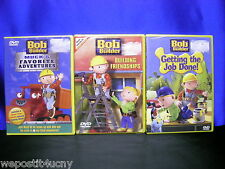 3 Bob the Builder DVDs NEW 3 Pack 13 Bob Adventures NEW 3 Games Approx 200 Min