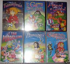 Lotto 6 DVD Le Fiabe in Cartone Animato, Originali, Nuovi e Sigillati a scelta