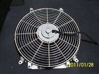 14 INCH 12v LOW PROFILE CHROM  HIGH PERFORMANCE THERMO FAN 12volt