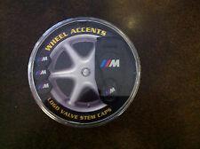 BMW Motorsport tire valve stem caps with keychain