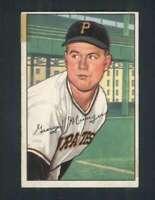 1952 Bowman #243 Red Munger GVG Pirates 102235