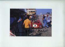 Arturo Merzario Ferrari 312 PB Nurburgring 1000 KM 1973 firmato fotografia 2