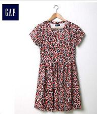 NWT Gap Women's Multicolor Floral Shirt Dress Size 4