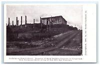 Postcard Powell St, Hopkins, Hotel, San Francisco CA earthquake fire 1906 G11