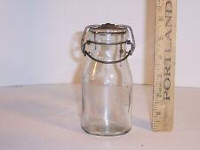 Milk bottle, half-pint, tin top, acid etched