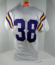 1997 Minnesota Vikings  #38 Game Issued White Jersey