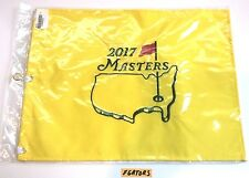 2017 MASTERS FLAG Embroidered OFFICIAL AUGUSTA NATIONAL Golf Pin Flag Ships FLAT