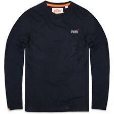 Superdry Long Sleeve Men Orange Label LS Vntge Emb Eclipse Navy XL