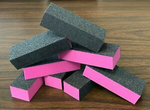 [LIMITED EDITION] NEW Black Grit Pink Sanding 3Way 100/100/240 Nail Buffer Block