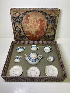 Children's Toy Tea Set Germany Made Porcelain China w/ Original Box Floral