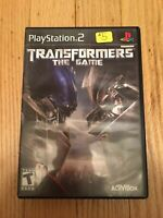 TRANSFORMERS THE GAME - PS2 - COMPLETE W/MANUAL - FREE S/H (O)