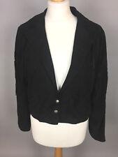 Women's MISS SELFRIDGE Limited Edition Black Tasseled Biker Jacket. 10-12