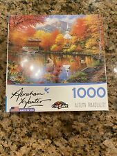 "Abraham Hunter ""AUTUMN TRANQUILITY"" 1000pc. Puzzle New & Sealed Ships Same Day!"