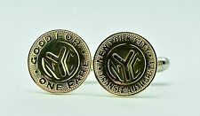 New York City (NYC) Subway Token Coin Cufflinks (Small 'Y' Cut-Out)