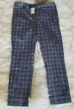 NEW Brooks Brothers 346 Natalie Fit Pants Check Size 2 Black White Crop Career