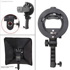 S-Type Speedlight Bracket Snoot Reflector Umbrella Bowens Mount Kit Black