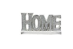 CRUSHED DIAMOND SILVER  HOME SIGN CERAMIC ORNAMENT
