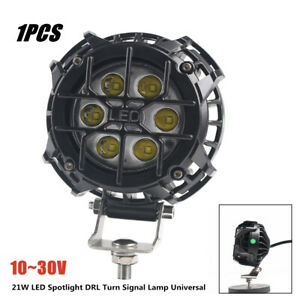 21W 6000K Aluminum LED Spotlight DRL Turn Signal Lamp Car Universal Light Lamp