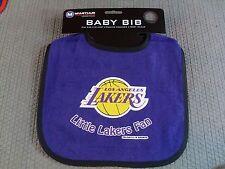 NBA NWT INFANT BABY BIB- PURPLE BLACK TRIM - LOS ANGELES LAKERS