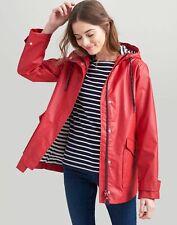 Joules Womens Sailaway Short Waterproof Raincoat - RED Size 6