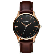Vocaro | The Minimalist Classic Watch Black With Tan Leather Straps