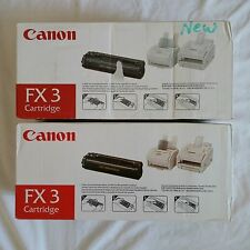 2 pk NEW GENUINE Canon FX3 Black Toner Cartridge FX-3 2 Count