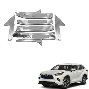 For Toyota Kluger 2021 Silver Inner Door Sill Cover Threshold Bar Protector 6PCS
