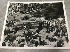 Frontier Village Amusement Park San Jose Train & gun fight publicity photo