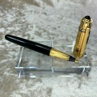 Vintage Authentic Pasha de Cartier Ballpoint Pen Black Lacquer x Gold Accents