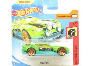 Hotwheels Rally Cat HW Daredevils Green 5/5 Short Card 1 64 Scale Sealed New