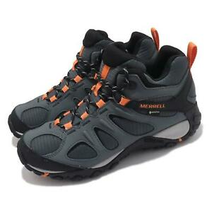 Merrell Yokota 2 Sport Mid GTX Gore-Tex Grey Orange Men Outdoors Hiking J036229