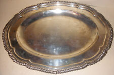 ANTIQUE ENGLISH ELKINGTON & CO. STERLING SILVER SERVING TRAY