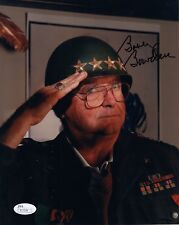 BOBBY BOWDEN HAND SIGNED 8x10 COLOR PHOTO       RARE POSE IN ARMY HELMET     JSA