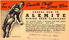 Advertising Postcard Alemite Winter Gear Lubricant,Football~112540