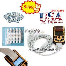 US FDA Handheld ECG machine Digital One Channel 12-lead EKG+ PC Software+Printer