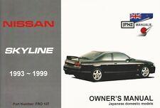 Nissan Skyline R33 1993-1997 Owners Handbook by JPNZ International Ltd