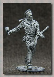Tin soldiers World War II (54 mm,1/32) # WW II-60 USSR,a sailor with a PPSH