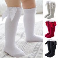 Stricksocken Kleinkind Mädchen Kniehohe Stretch Strumpfe Langsocke Bowknot Socke