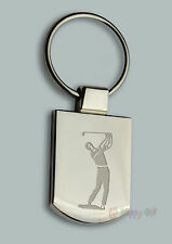 Engraved GOLF GOLFER 1 Design keyring BOXED Personalised Free  Key ring