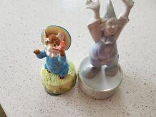 Schmid Music Box Born Free porcelain cat and musical clown