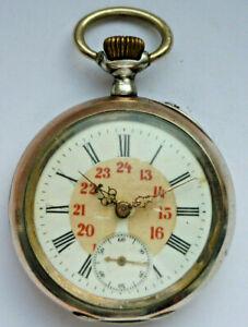 Taschenuhr, 800er Silber, um 1903                                 (Art.4607)