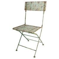 Chaise de Jardin, En Design Industriel, Retro Balcon, Bistrot Fer