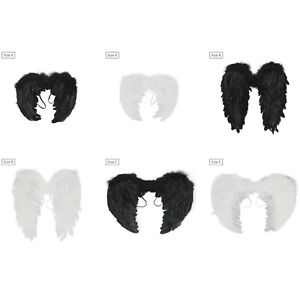 Adult kid Feather Angel Wings w/Elastic Band Halloween Christmas Cosplay Costume