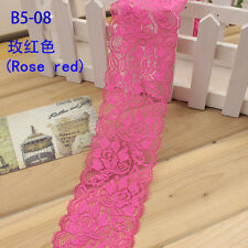 Flower Stretch Lace Trim Ribbon Sewing Dress Skirt Decor DIY Handicrafts FL104
