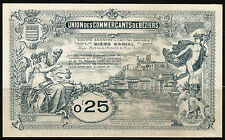 Billet 0,25 Franc, Union des Commerçants de Béziers. Vers 1920. France. Superbe