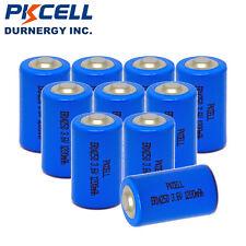 10pcs x 3.6V 1200mAh ER14250 LI-SOCl2 1/2AA Battery Non-rechargeable PKCELL