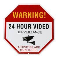 30*30cm 24 Hour Video Surveillance Warning Sign Security Avoid Intruders Aluminu